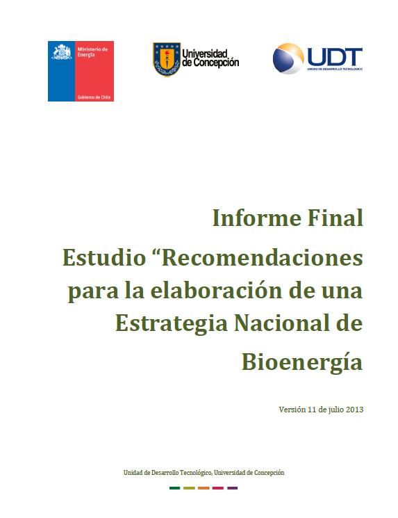 Recomendaciones Estrategía Nacional Bioenergía